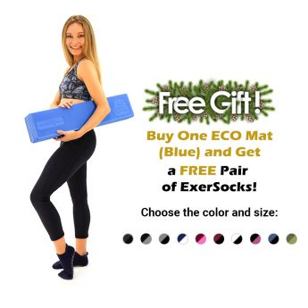 Buy One ECOmat (Blue) And Get A FREE Pair Of ExerSocks!