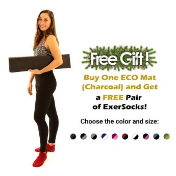 Free Gift Buy One ECO Mat 9Charcoal) and get a FREE pair of ExerSocks