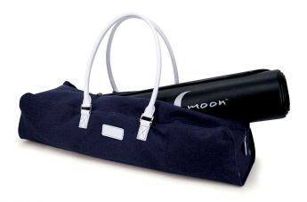 Navy Linen Metro Carryall Yoga / Pilates Mat Bag