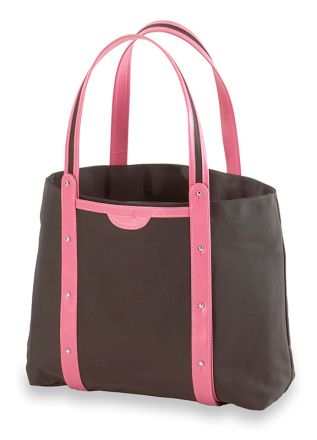 Convertible Yoga / Pilates Mat Tote (Brown / Pink)