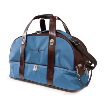Overnighter Bag (Blue / Brown)