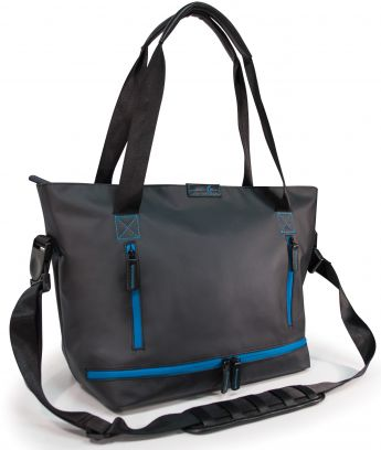 Crescent Moon Studio Tote (Black/Turquoise)