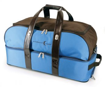 Rolling Spa Weekender Bag (Blue / Brown)