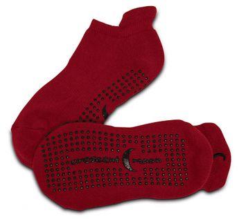 ExerSocks™ - Barre, Yoga & Pilates Socks (Raspberry/Black)