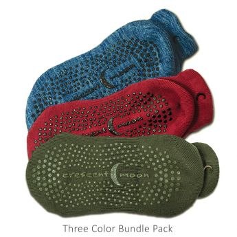 Three color bundle pack ExerSocks blue heather, raspberry, and olive