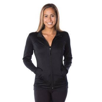 Crescent Moon Active-Tech Full-Zip Jacket - Black