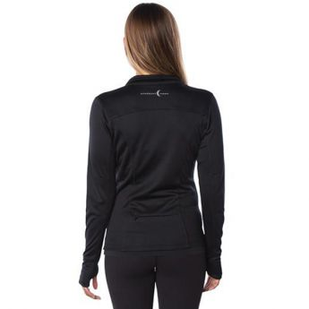 Small Crescent Moon Active-Tech Full-Zip Jacket - Black