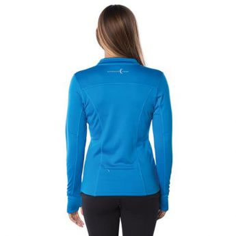 Small Crescent Moon Active-Tech Full-Zip Jacket - Blue