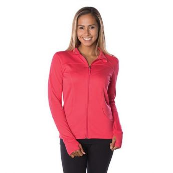 Crescent Moon Active-Tech Full-Zip Jacket - Coral