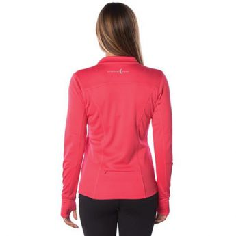 Small Crescent Moon Active-Tech Full-Zip Jacket - Coral