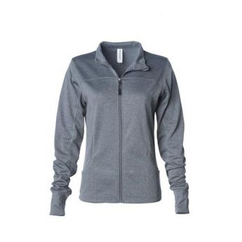 Large Crescent Moon Active-Tech Full-Zip Jacket - Gray