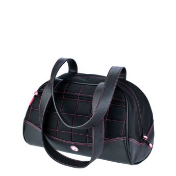 Sumo Duffel - Black with Pink Stitching