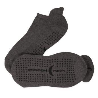 ExerSocks™ - Barre, Yoga & Pilates Socks (Charcoal/Black)