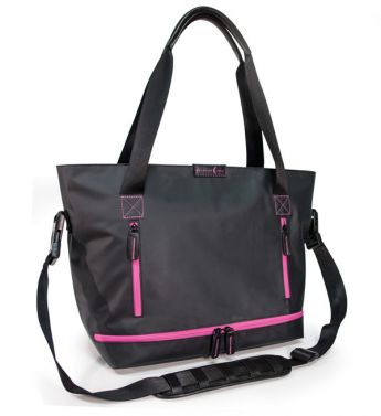 Crescent Moon Studio Tote (Black/Violet)