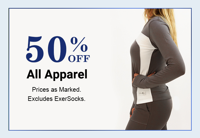 Shop Crescent Moon Yoga Apparel 50% Off. Prices as marked. Excludes ExerSocks.