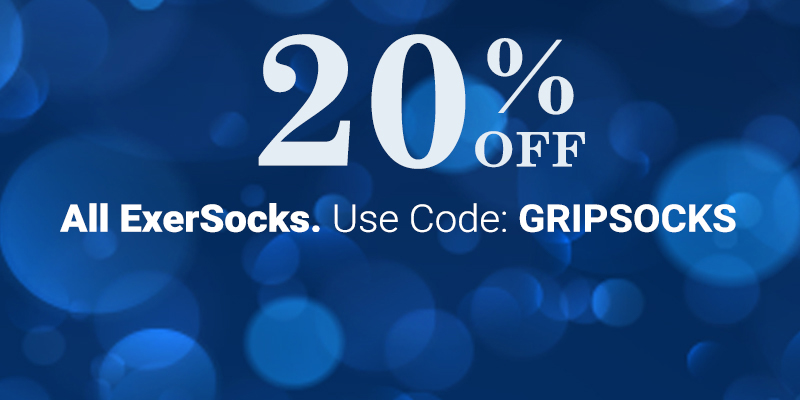 20% Off All ExerSocks - Use Code: GRIPSOCKS - Shop Crescent Moon Yoga ExerSocks
